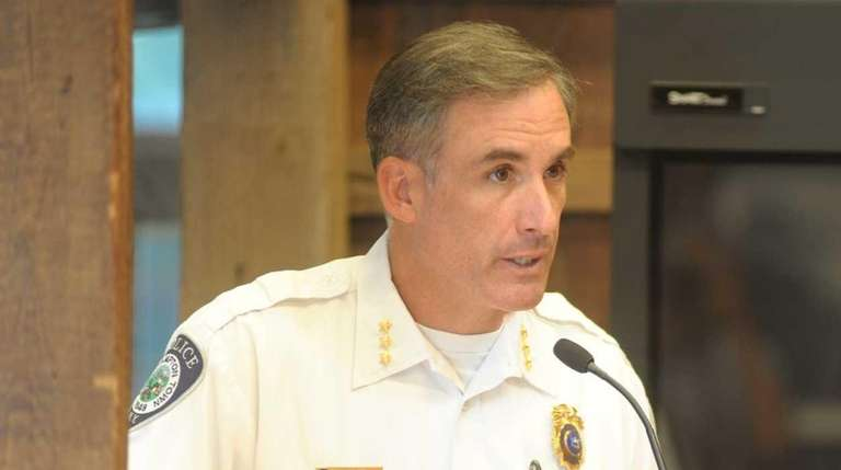 East Hampton Police Chief Michael Sarlo discusses ways