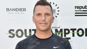 Sean Avery is shown at Southampton Arts Center