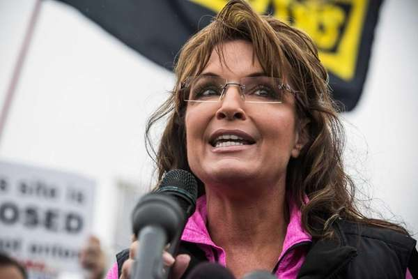 Former Alaskan Governor Sarah Palin speaks in Washington,
