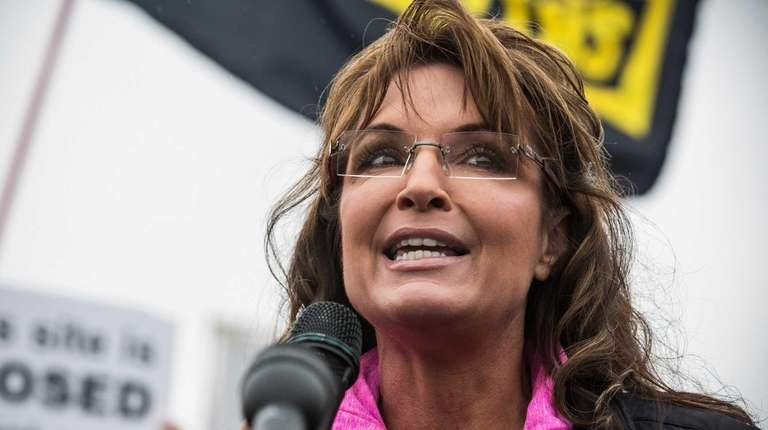 Former Alaskan Governor Sarah Palin speaks in Washington,