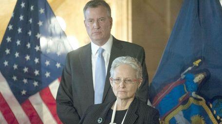 New York City Mayor Bill de Blasio with