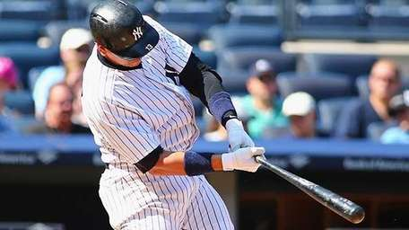 Alex Rodriguez of the New York Yankees hits