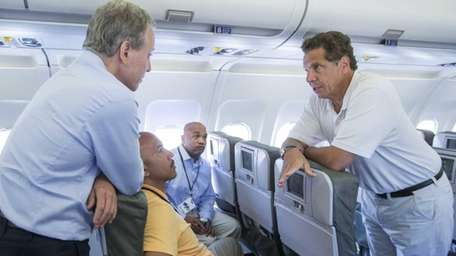Gov. Andrew M. Cuomo leads a delegation to