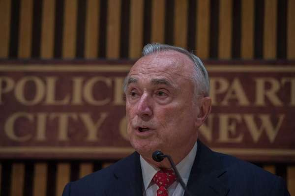 NYPD Commissioner William Bratton is shown in this