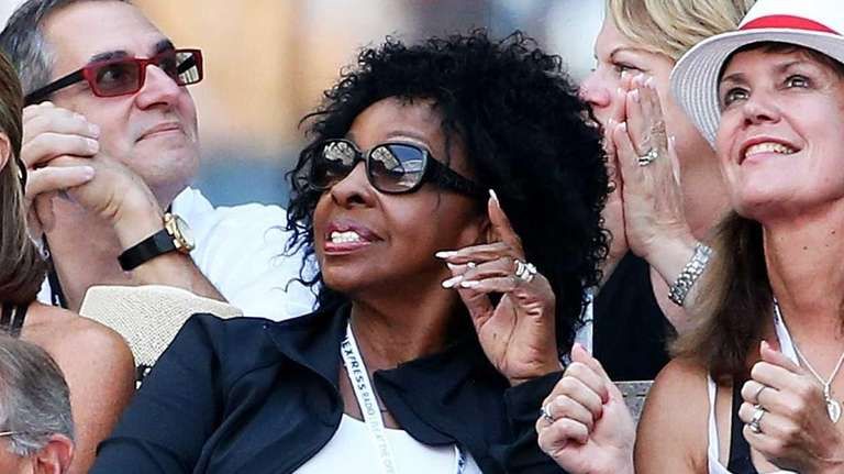 Singer Gladys Knight attends the men's singles fourth-round