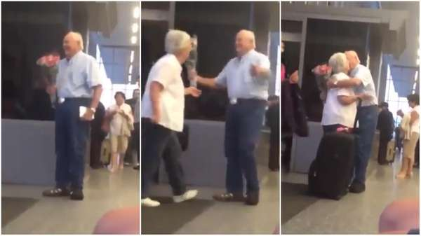 A video of an elderly couple at the