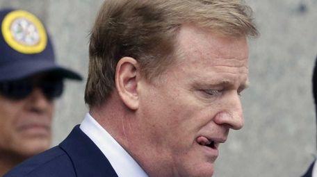 NFL commissioner Roger Goodell leaves federal court on