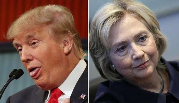 Donald Trump and Hillary Clinton are vying for
