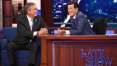 Actor George Clooney and Republican Presidential candidate Jeb