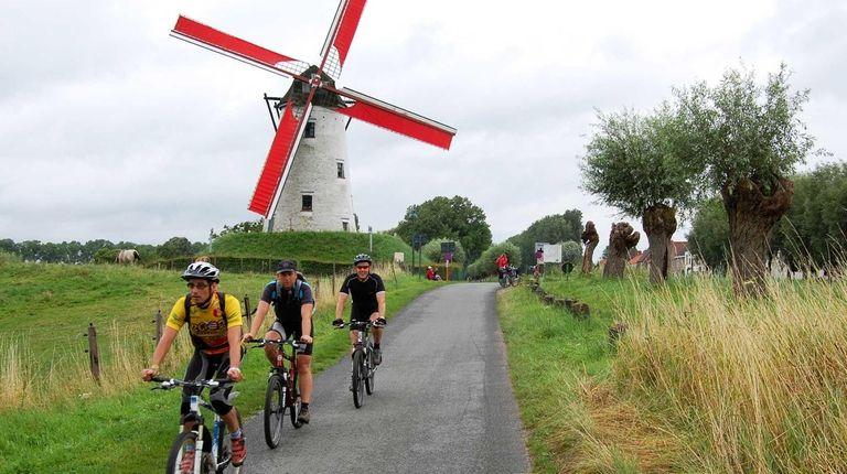 A bike ride along a canal near the