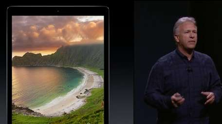Phil Schiller touts the features and size of