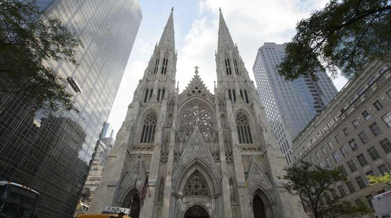 The exterior of St. Patrick's Cathedral in Manhattan,
