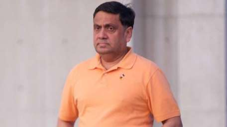Harendra Singh leaves federal court in Central Islip,