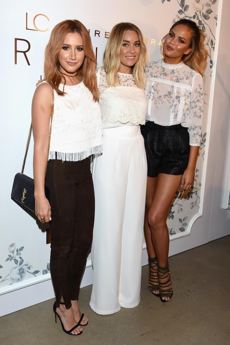 Actress Ashley Tisdale, designer Lauren Conrad and model