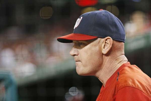 Washington Nationals manager Matt Williams stands in the