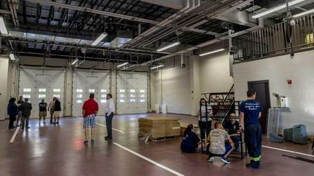Fire chiefs tour the new Lindenhurst firehouse with
