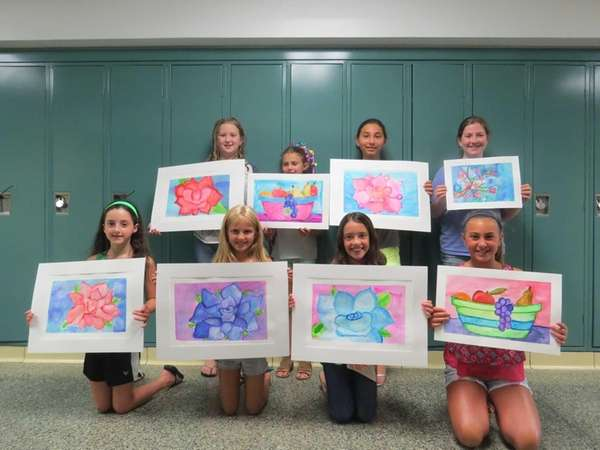 Students from the Massapequa school district show off