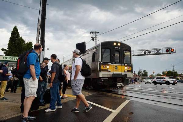 Stranded and delayed Long Island Rail Road passengers
