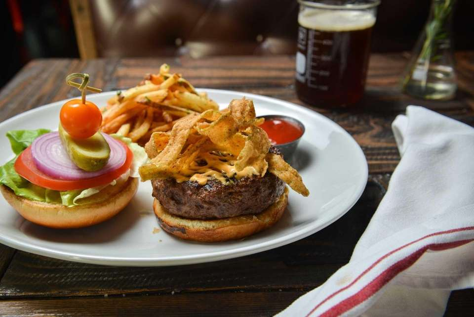 Brewology (multiple locations): Brewology's namesake burger features ground