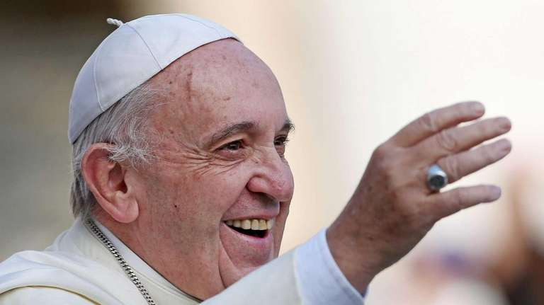 Pope Francis is pictured in St. Peter's Square
