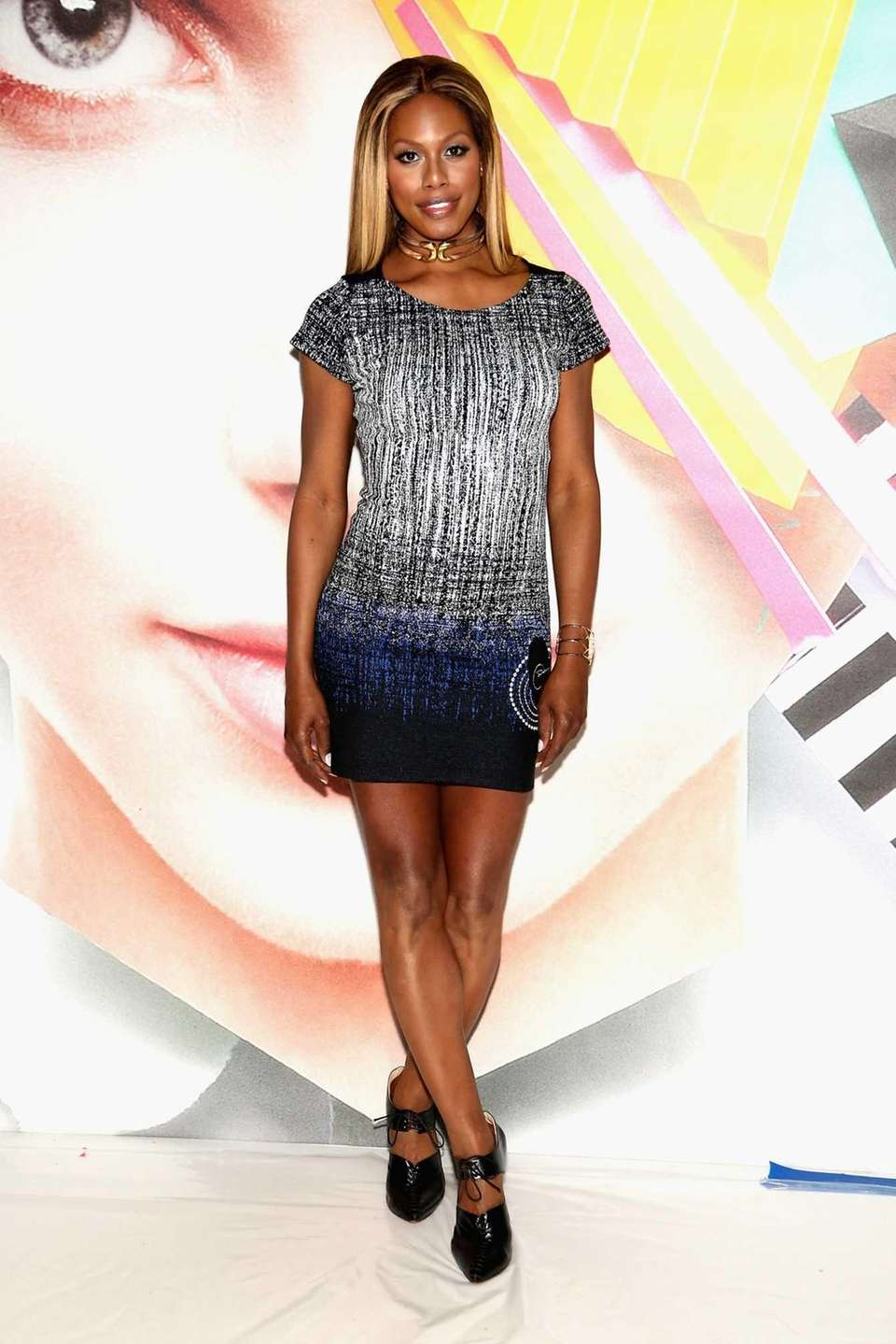 Actress Laverne Cox attends the Desigual show during