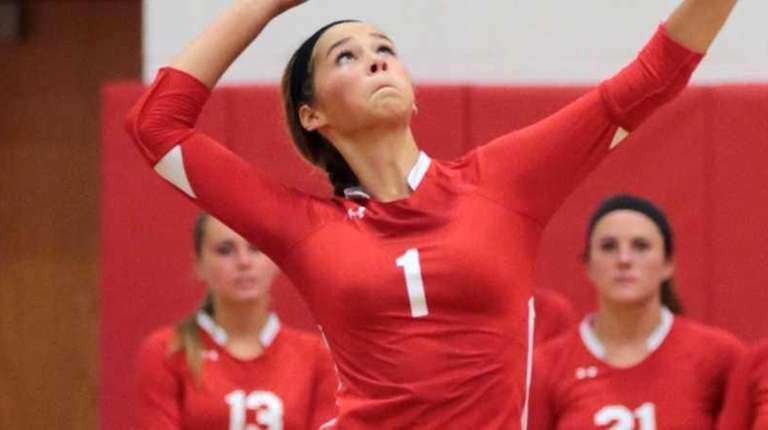 Connetquot's Mackenzie Cole serves the ball during a