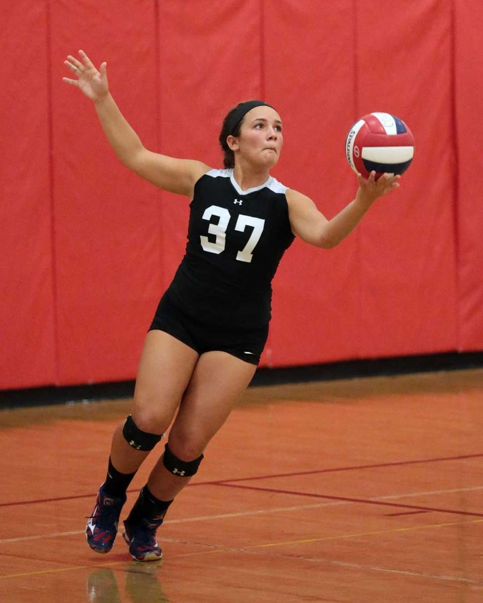 Libero Daniella Balsano serves for Connetquot during a