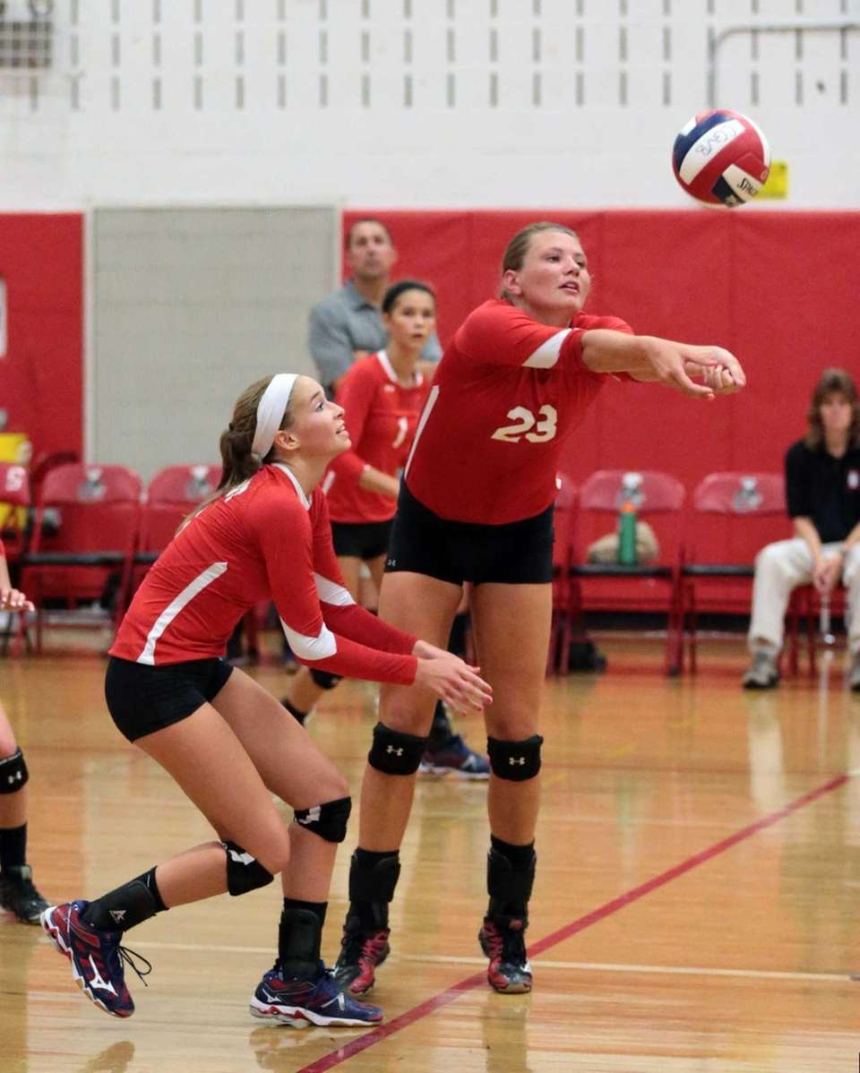 Connetquot's Katie Von Kampen digs up a Half
