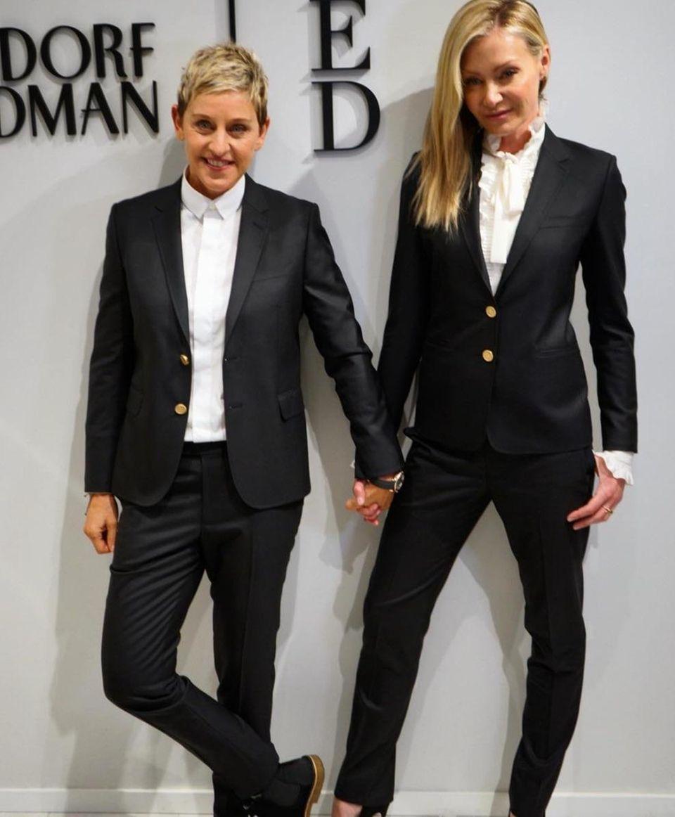 Ellen Degeneres and Portia de Rossi celebrated Ellen's