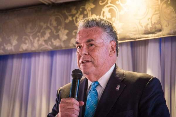 Rep. Peter King speaks during a political fundraising
