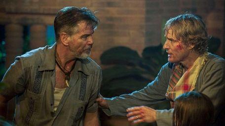 Pierce Brosnan, left, and Owen Wilson in a