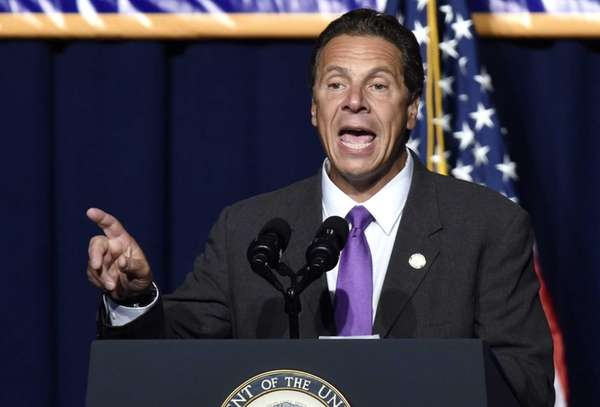 Andrew Cuomo speaks during an event where he