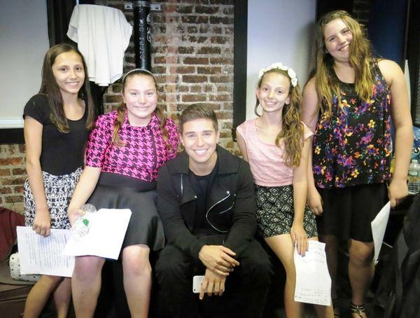 Kidsday reporters Jeanette Giacomantonio, Ciara Greco, Laina Cancilla,