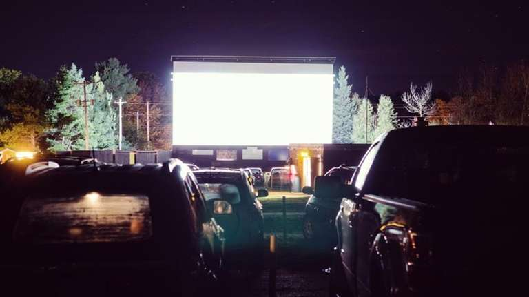 A drive-in movie theater.