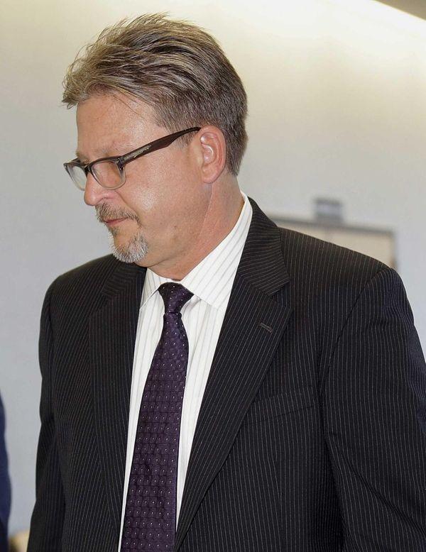 Medford Nursing Home administrator David Fielding leaves the