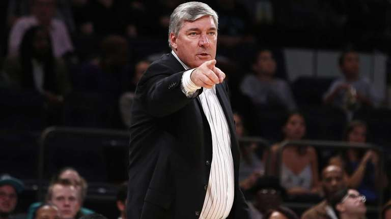 New York Liberty coach Bill Laimbeer reacts to
