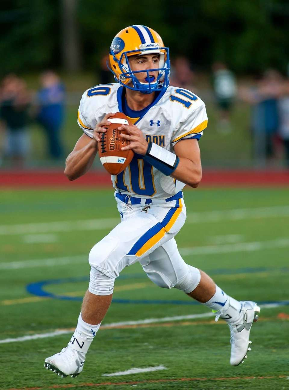 East Meadow QB Anthony LaRosa looks to pass