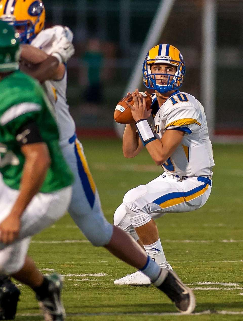 East Meadow QB Anthony LaRosa looks to throw