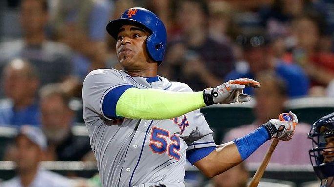Centerfielder Yoenis Cespedes of the New York Mets