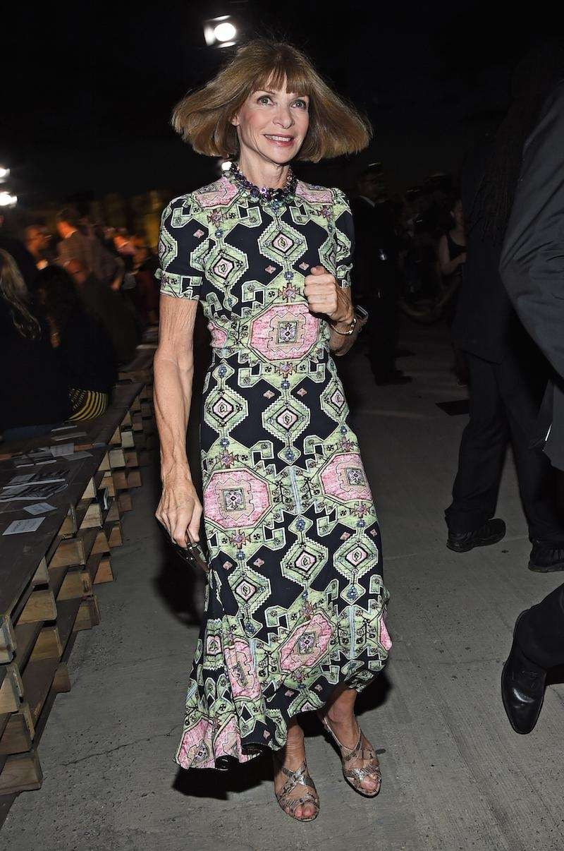 Editor-in-chief of American Vogue, Anna Wintour attends the