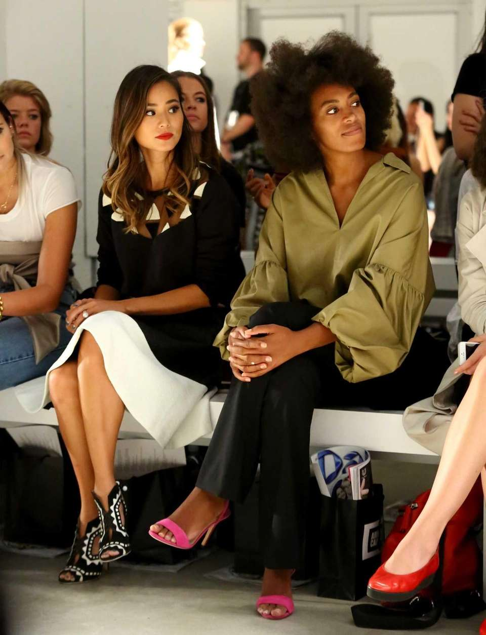 Actress Jamie Chung and singer Solange Knowles attend