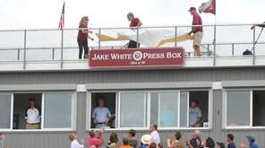 The press box of Garden City High School's