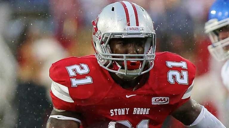Stony Brook RB Stacey Bedell hits the hole