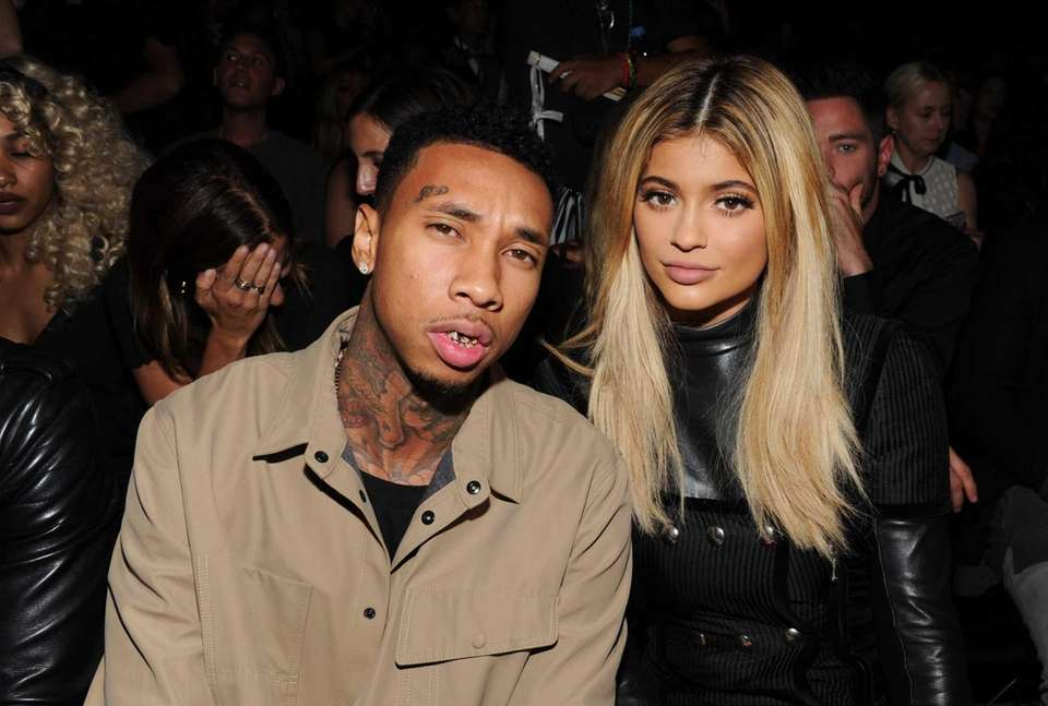 Tyga and Kylie Jenner attend the Alexander Wang