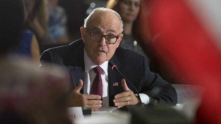 Former New York Mayor Rudy Giuliani testifies at