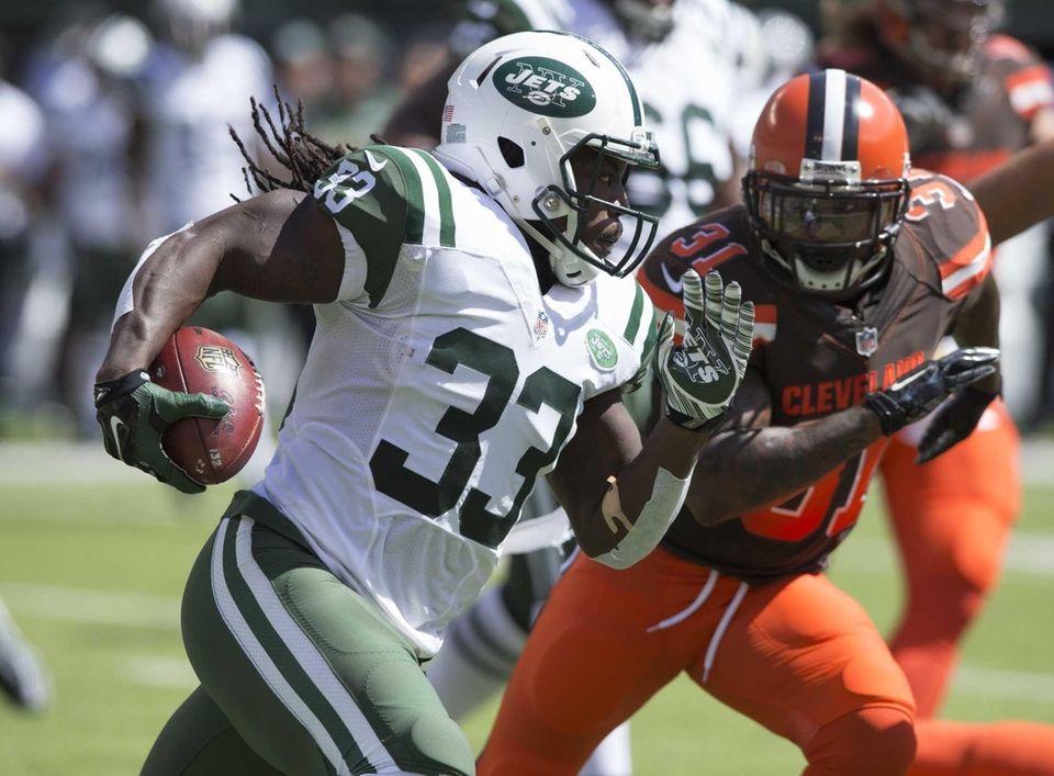 New York Jets running back Chris Ivory (33)