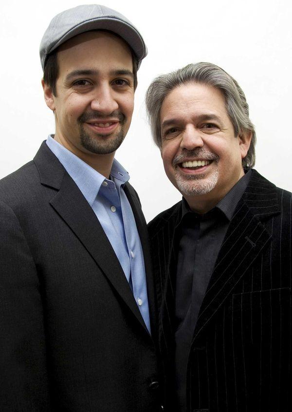 Lin-Manuel Miranda, star and creator of 'Hamilton,' left,