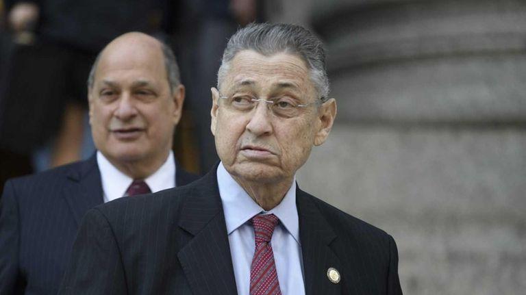 Former New York State Assembly Speaker Sheldon Silver,