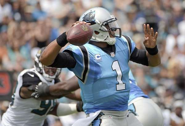 Carolina Panthers quarterback Cam Newton (1) throws a