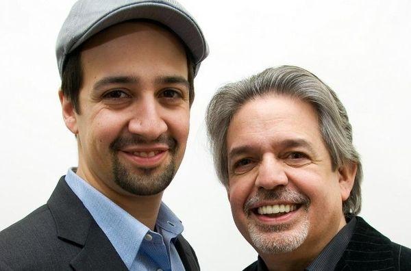 Lin-Manuel Miranda, left, with father Luis A. Miranda
